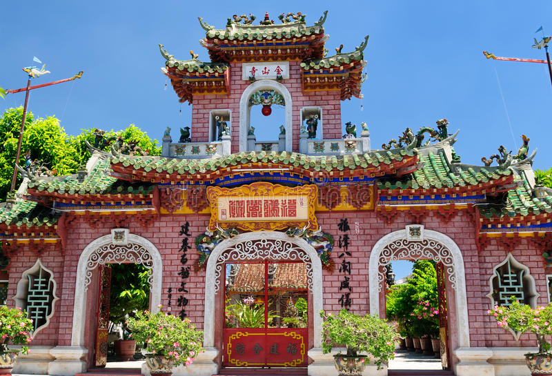 Vietnamese architecture stock photo
