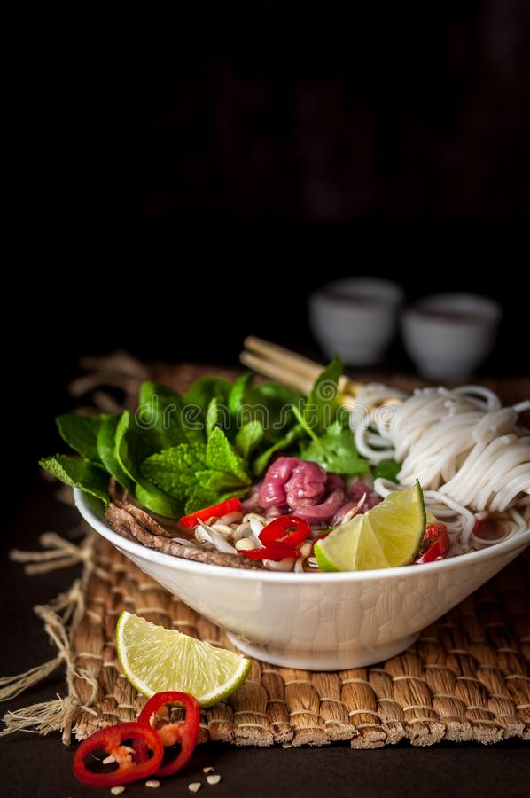 Free Vietnamese Beef Noodle Soup Pho Bo Stock Photography - 111073312