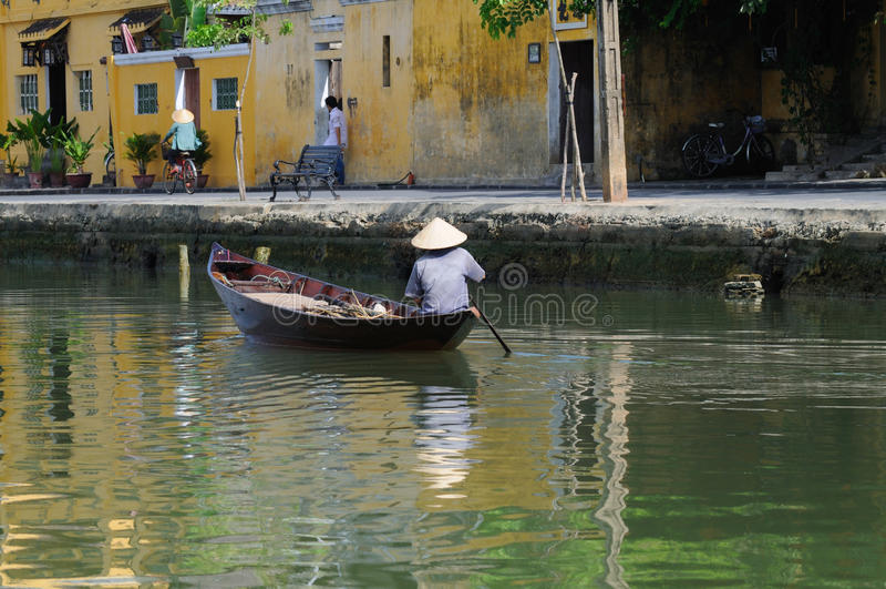 Vietnamese boatman stock photos