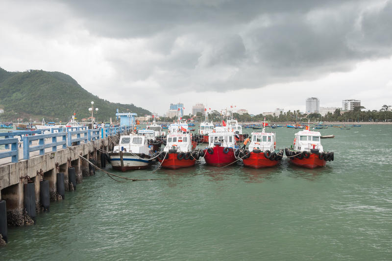 Vietnamese Boats at the Jetty