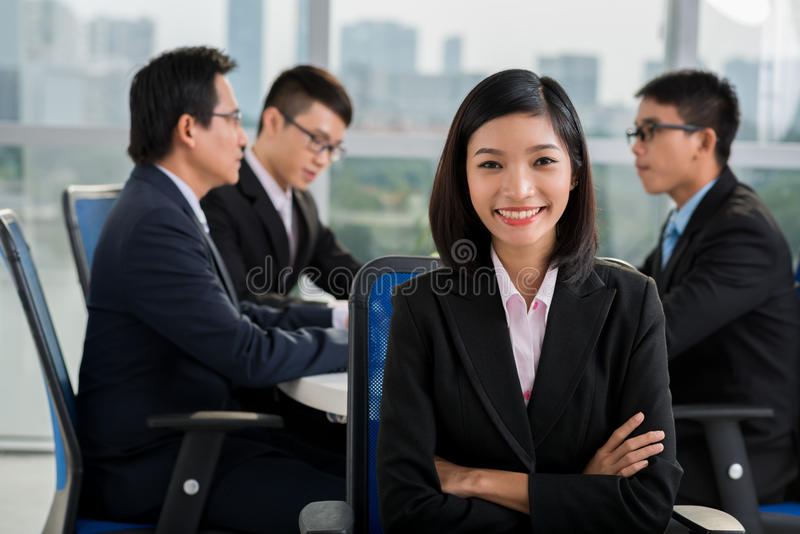 Vietnamese business lady stock photo