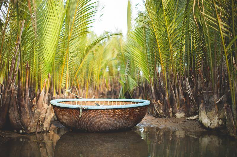 Traditional Fishing Boat the Coracle royalty free stock image