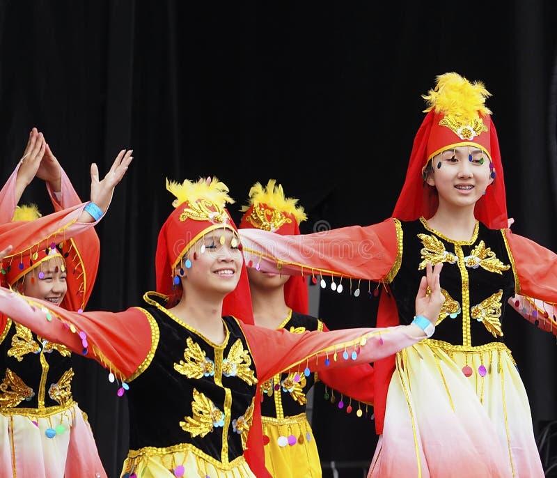 Vietnamese Dancers. At Edmonton's Kaleido Festival September 10, 2016 stock images