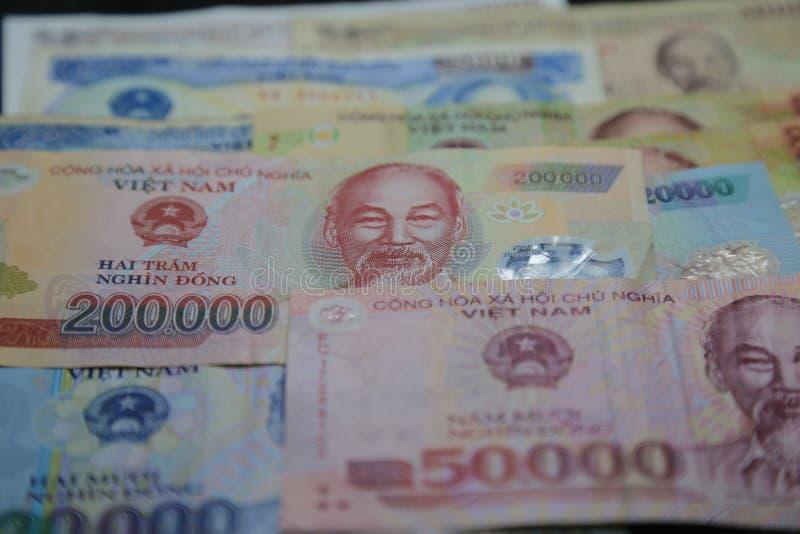 Vietnamese Dong - Banknotes closeup royalty free stock photography
