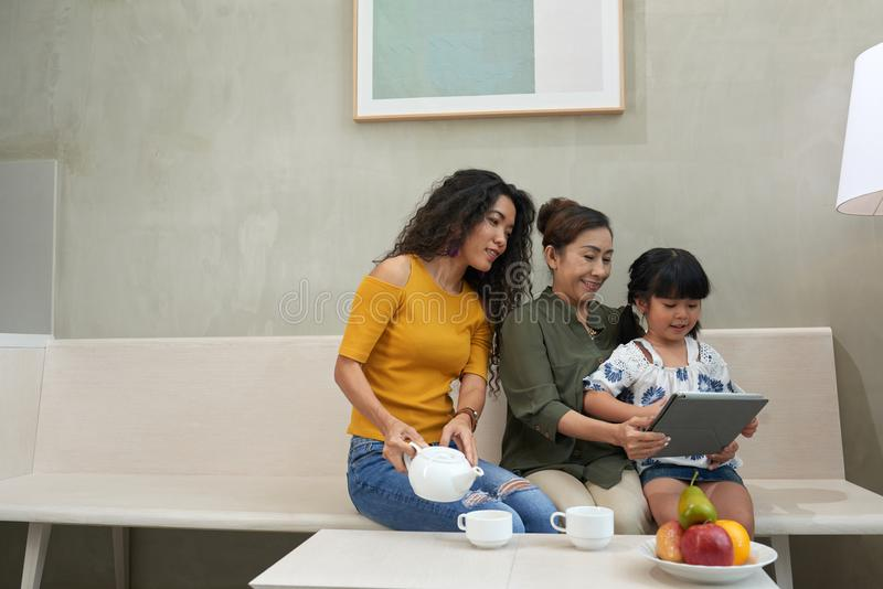Family time stock photography
