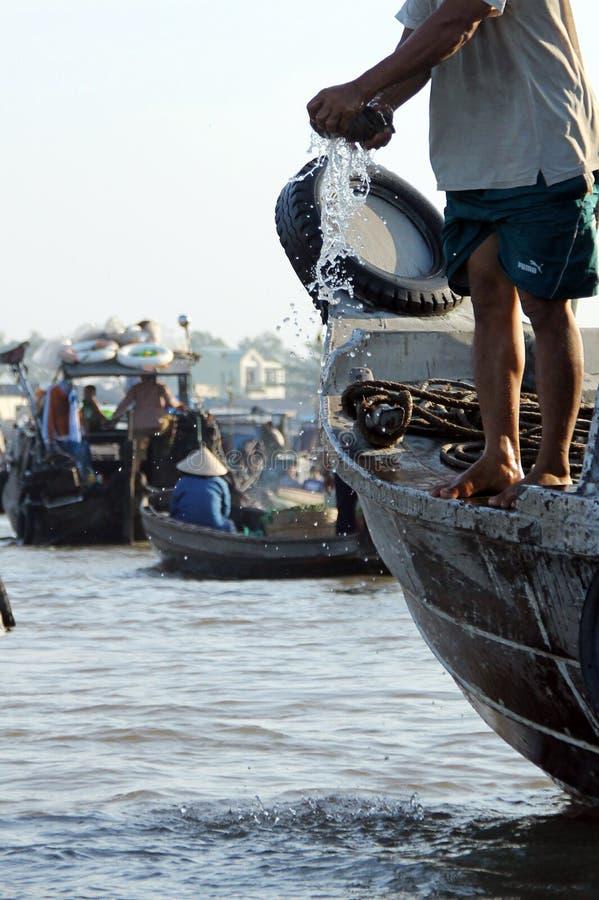 Vietnamese fisherman royalty free stock images