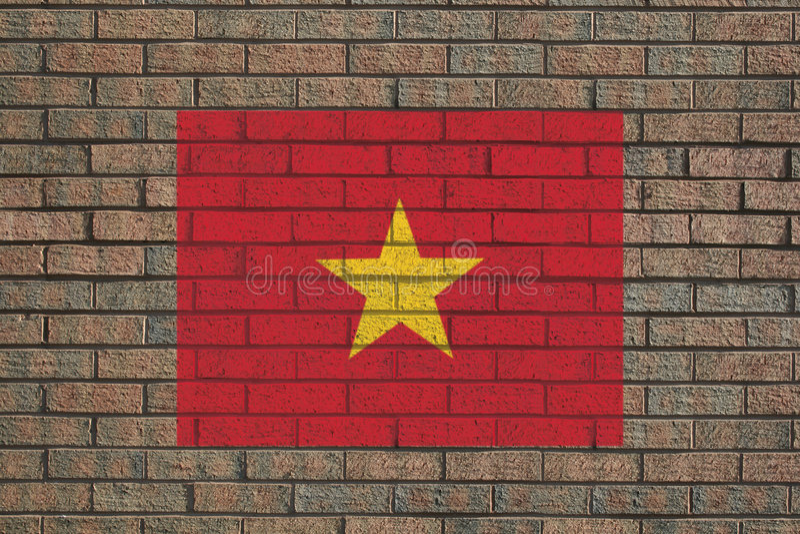 Download Vietnamese flag on wall stock illustration. Illustration of patriotism - 7288785