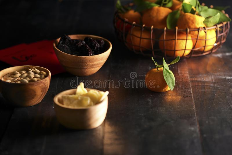 Vietnamese food for Tet holiday in spring, jam is traditional food on lunar new year, can make from sweet potato, lotus seed,. Ginger with sugar royalty free stock photography