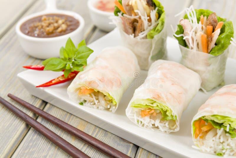 Vietnamese Fresh Spring Rolls Royalty Free Stock Photo