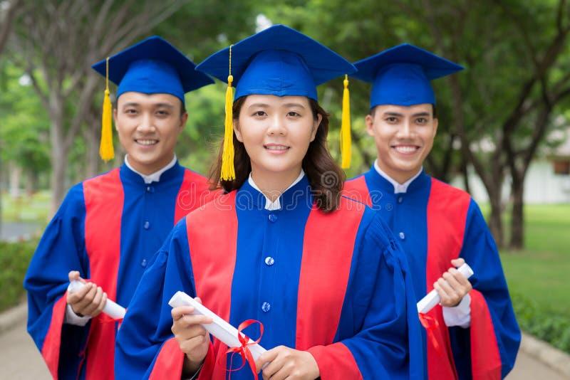 Vietnamese graduates royalty free stock photo