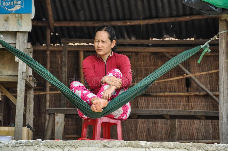 Vietnamese jonge vrouw stock afbeelding