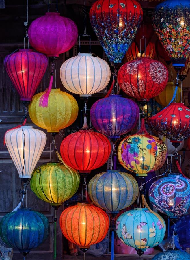 Vietnamese lampions royalty-vrije stock fotografie