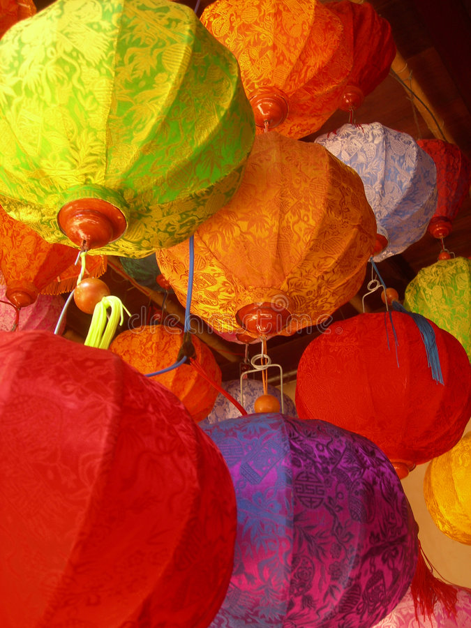Vietnamese lanterns royalty free stock photo
