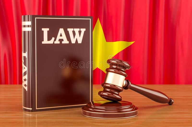 Vietnamese law and justice concept, 3D vector illustration