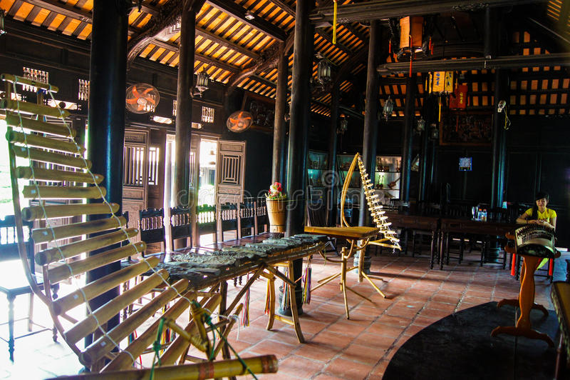 Vietnamese nationale muzikale instrumenten stock foto