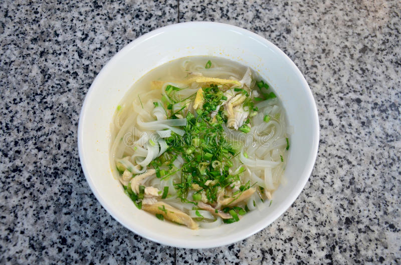 Vietnamese noodle soup with chicken vietnam style called Pho stock photos