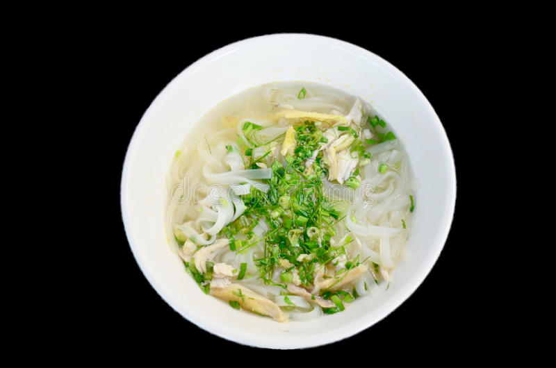 Vietnamese noodle soup with chicken vietnam style called Pho royalty free stock image