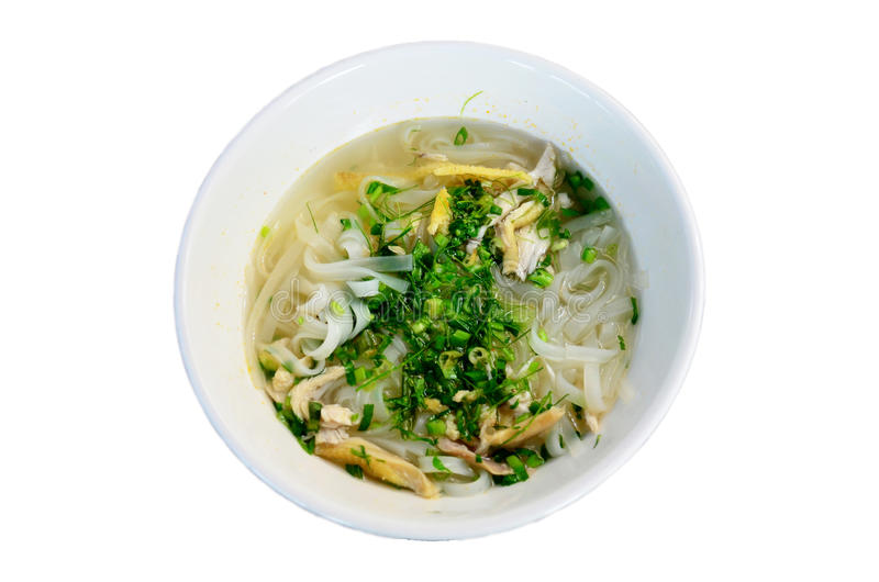 Vietnamese noodle soup with chicken vietnam style called Pho stock photography