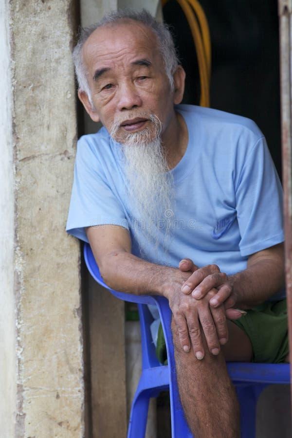 Free Vietnamese Old Senior Man Royalty Free Stock Image - 25285146