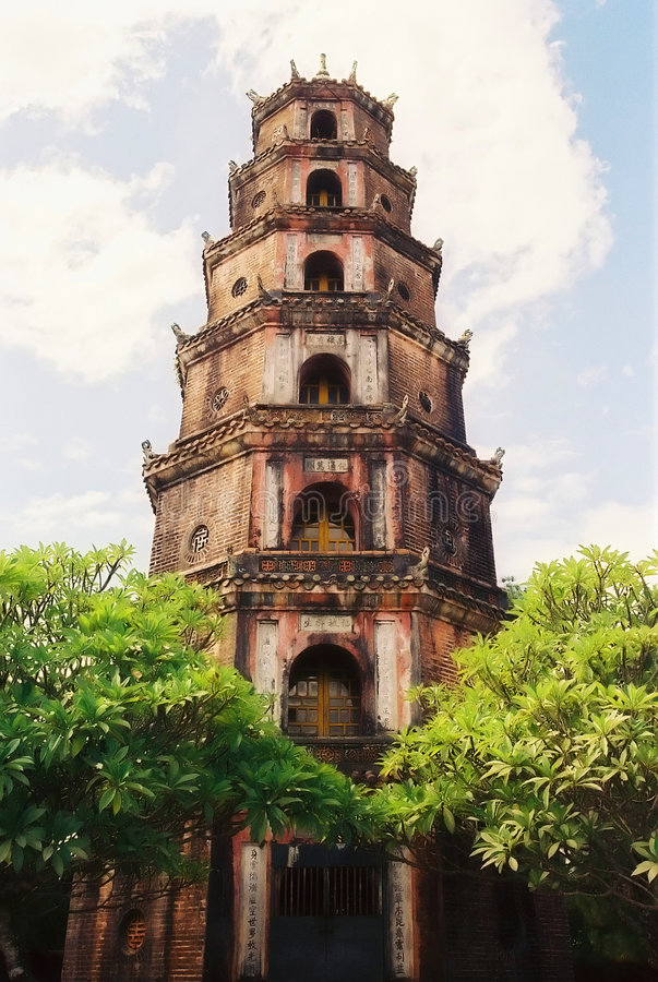 Vietnamese Pagoda royalty free stock photo