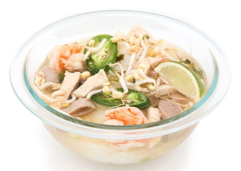 Vietnamese Pho noodle soup royalty free stock photo
