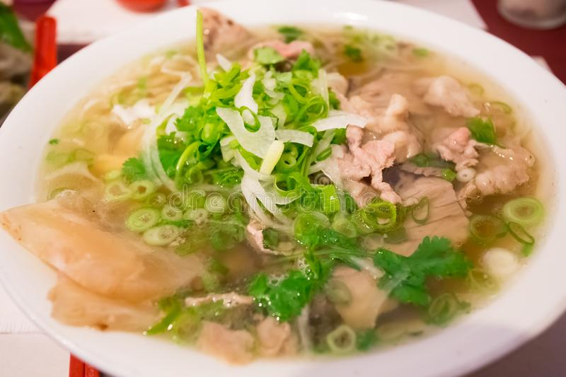 Vietnamese Pho Noodle Soup royalty free stock photography