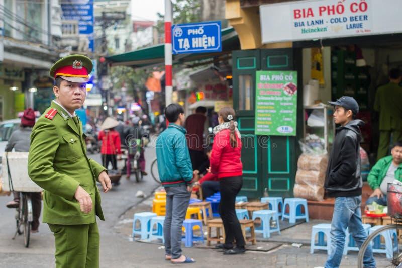 Vietnamese politie in Hanoi stock fotografie