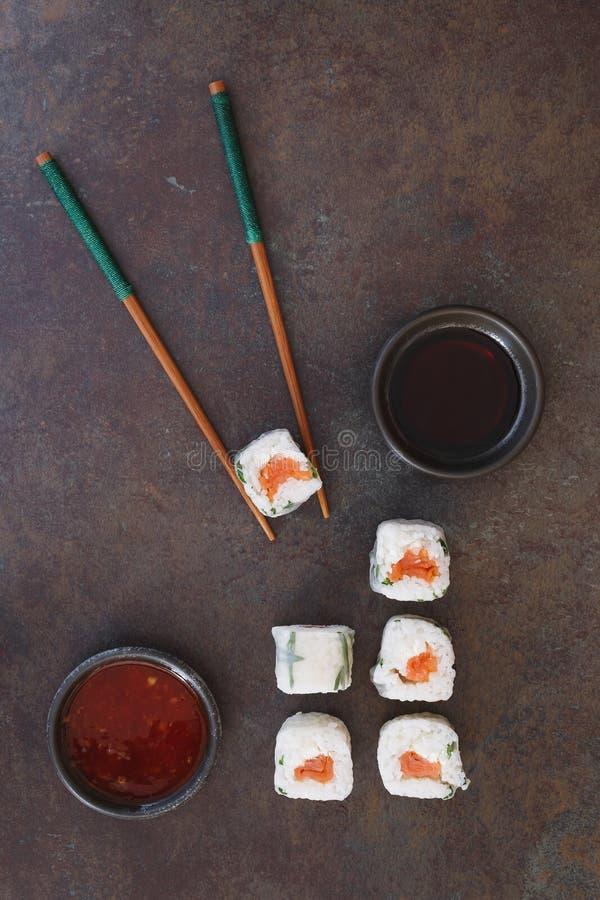 Vietnamese rice paper rolls royalty free stock image