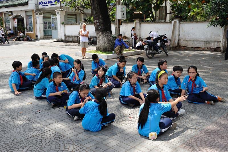 Vietnamese schoolklasse royalty-vrije stock afbeelding