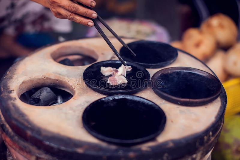 Vietnamese small rice pancake - Traditional food of Vietnam stock images