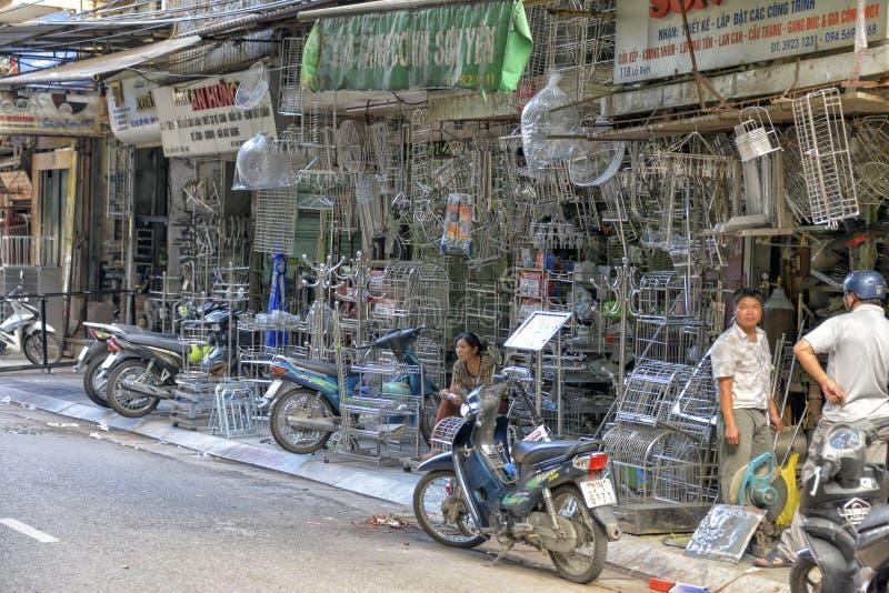 Vietnamese straatventers, Hanoi, Vietnam stock fotografie