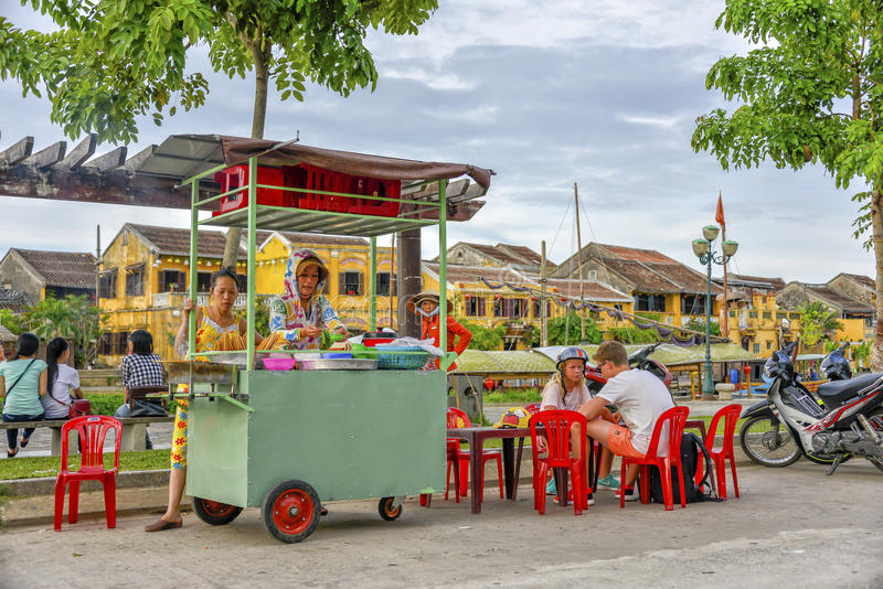 vietnamese street food stall in hoi an editorial stock photo image of food indochina 49928358. Black Bedroom Furniture Sets. Home Design Ideas
