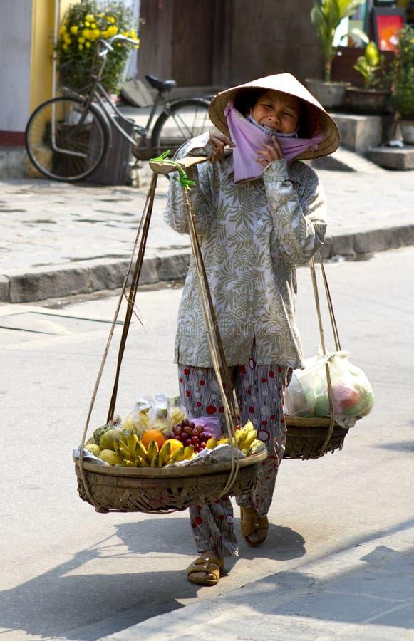 Vietnamese Street Seller Editorial Photo