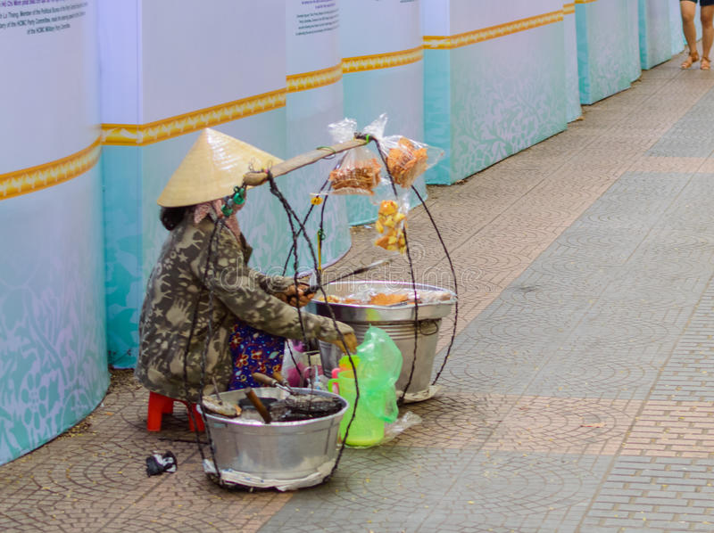 Vietnamese street vendor royalty free stock photos