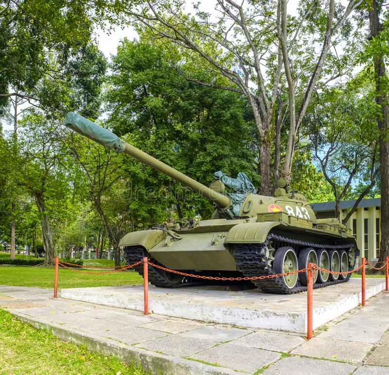 Vietnamese T-54 tank at the Independence Palace royalty free stock image