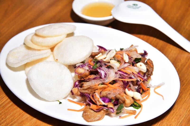 Vietnamese vegetarische salade royalty-vrije stock foto's