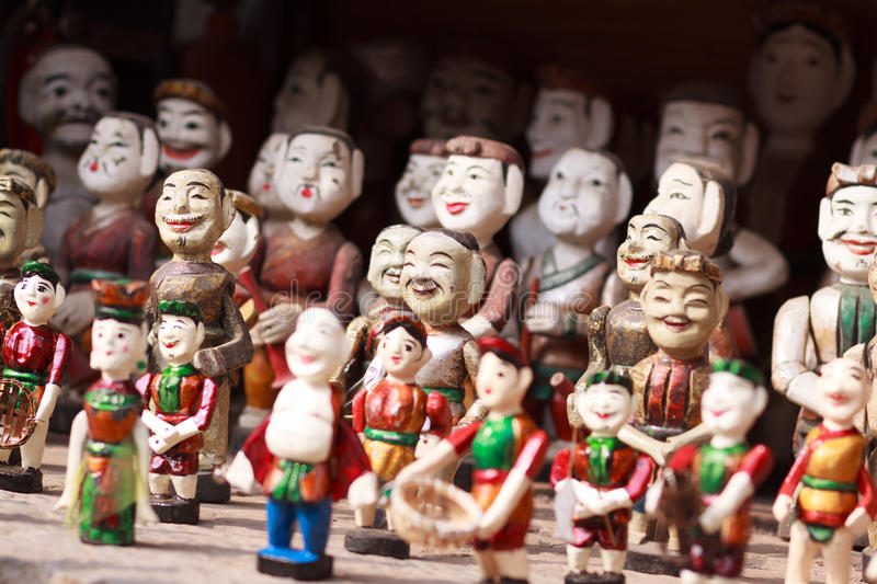Vietnamese Water Puppets stock image