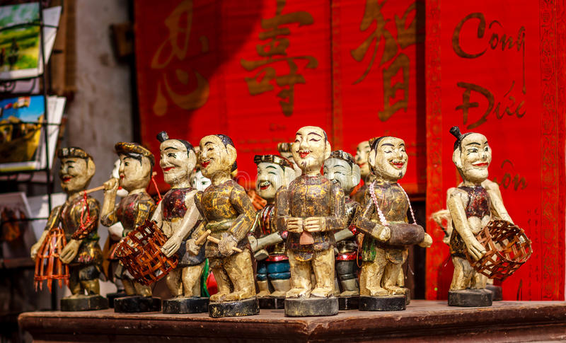 Vietnamese Water Puppets stock images