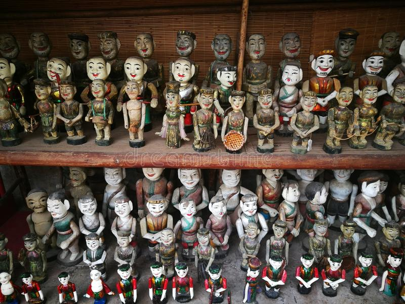 Vietnamese water puppets royalty free stock photo