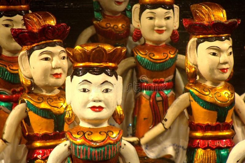 Vietnamese water puppets stock photography