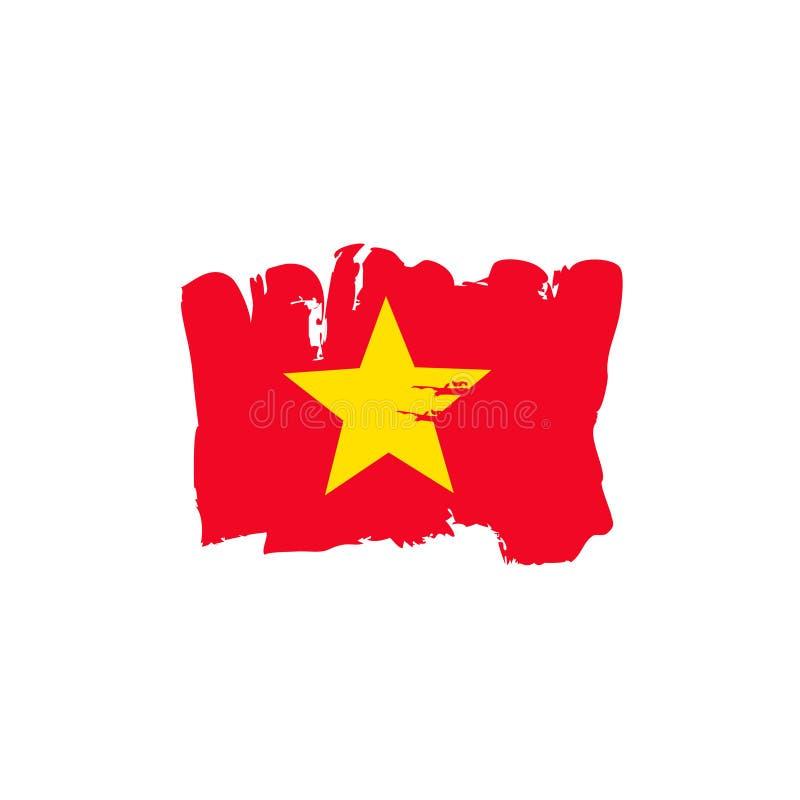 Vietnamesische Flagge gemalt durch Bürstenhandfarben Kunstflagge Schmutzflagge Vietnam Vietnamesische Kunstflagge stockbilder