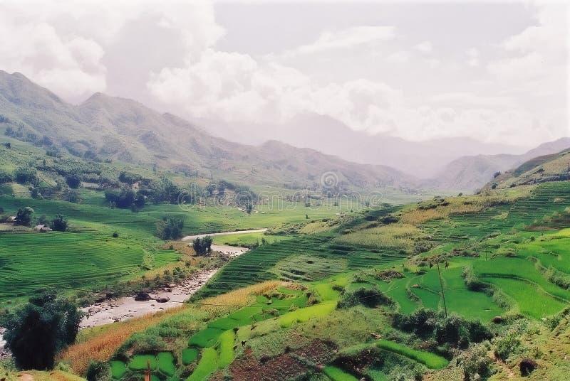 Vietnamesische Landschaft lizenzfreies stockfoto