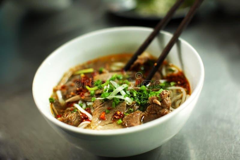 Vietnamesische RindfleischNudelsuppe benannte pho stockbilder