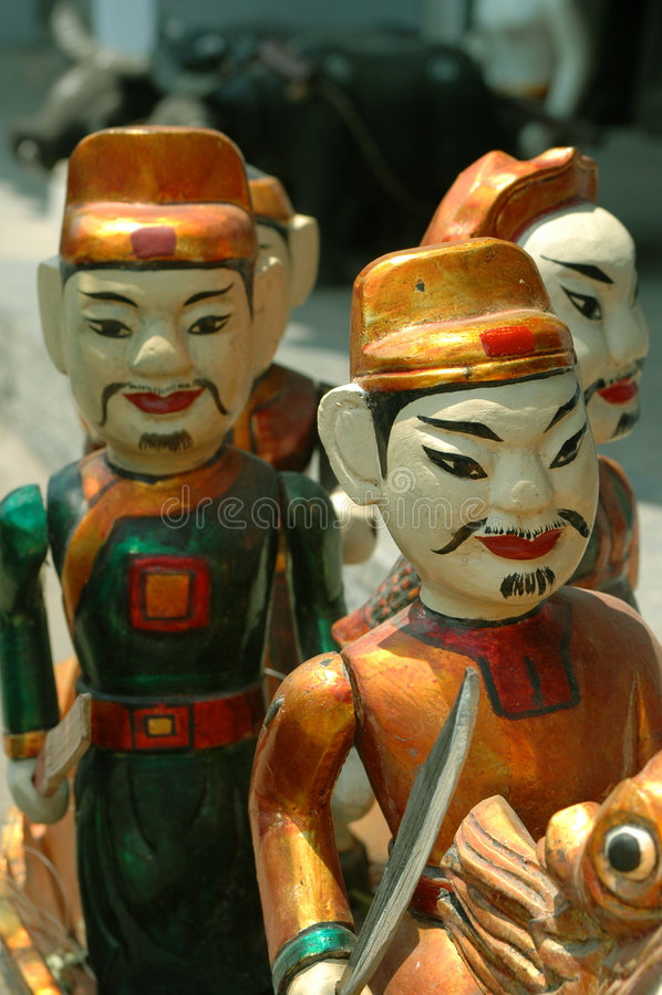 Vietnamesische Wasser-Marionetten lizenzfreie stockfotografie
