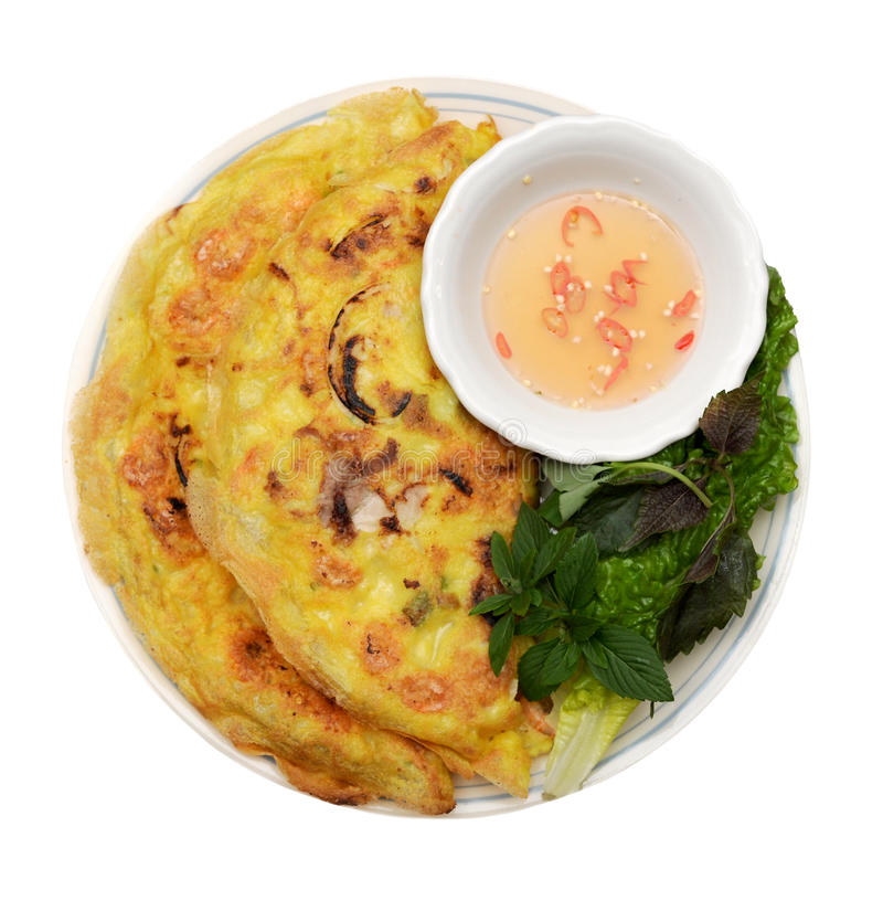 Vietnamesischer Artpfannkuchen lizenzfreie stockfotografie