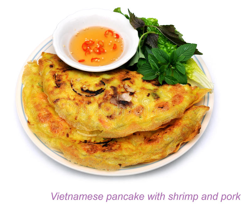 Vietnamesischer Pfannkuchen lizenzfreies stockfoto