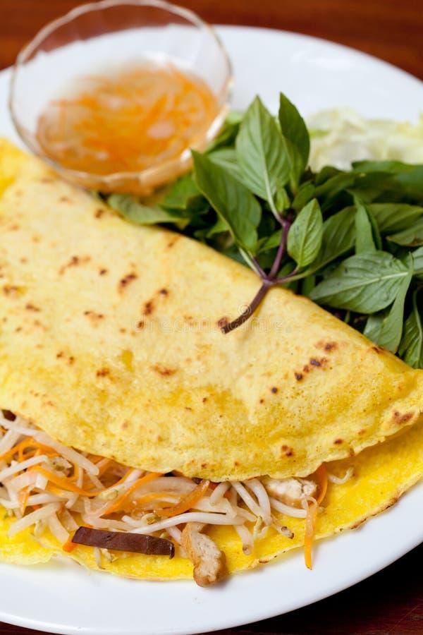 Vietnamesischer Pfannkuchen, banh xeo stockfoto