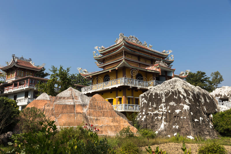 Vietnamesischer Tempel, Lumbini, Nepal stockfoto