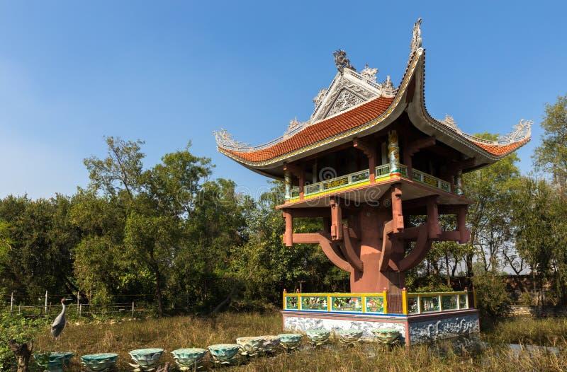 Vietnamesischer Tempel Lumbini, Nepal stockbild