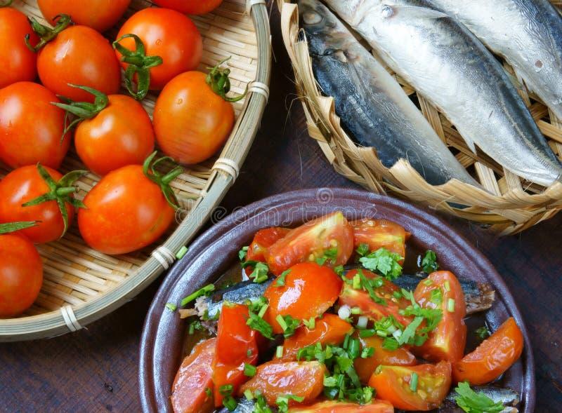 Vietnamesisches Lebensmittel, gedünsteter Fisch stockfotos